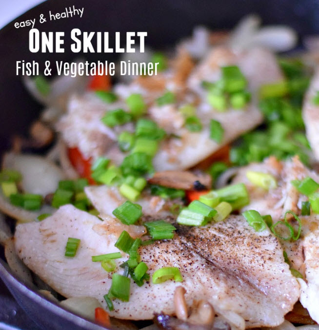 fish fillets and skillet vegetables recipe